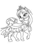Раскраска Питомец Мулан  пони Личи