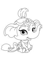 Раскраска Питомец Жасмин слонёнок Тай