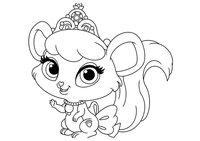 Раскраска Питомец Золушки мышка Бри