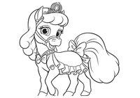 Раскраска Питомец Золушки пони Снежинка