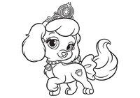 Раскраска Питомец Золушки щенок Тыковка