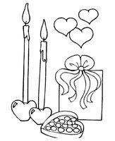 Раскраска Подарок на День Святого Валентина