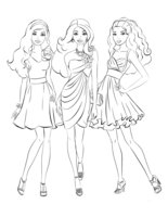 Раскраска Подружки Барби