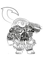 Раскраска Полубог Мауи