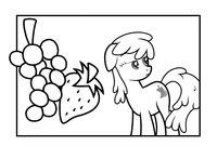 Раскраска Пони и фрукты