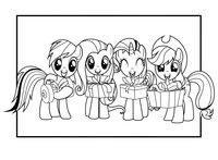 Раскраска Пони и подарки