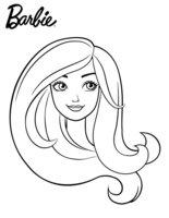 Раскраска Портрет Барби