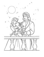 Раскраска Принц и принцесса