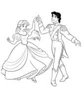 Раскраска Принцесса Ариэль и Эрик