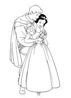 Раскраска Принцесса Белоснежка и принц