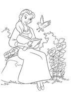 Раскраска Принцесса и волшебная птичка