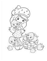 Раскраска Принцесса Клубничка и маленькие ягодки