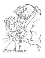 Раскраска Принцесса Красавица и чудовище