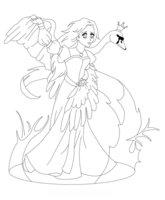 Раскраска Принцесса Лебедь