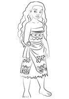Раскраска Принцесса Моана