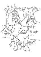 Раскраска Принцесса на лошади