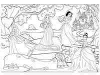 Раскраска Принцессы Дисней. День Святого Валентина