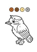 Раскраска Птичка по цифрам