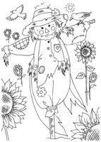 Раскраска Пугало огородное