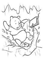 Раскраска Пух упал с дерева