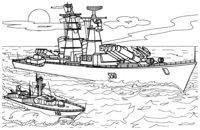 Раскраска Ракетный корабль