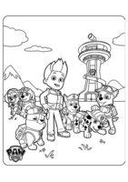 Раскраска Райдер и щенячий патруль