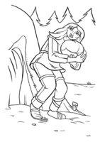 Раскраска Ребёнок на руках у матери
