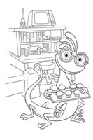 Раскраска Рэндалл Боггс с кексами