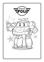 Раскраска Робокар Поли