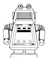 Раскраска Робот-автомат газировки