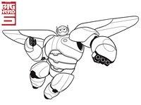Раскраска Робот Бэймакс