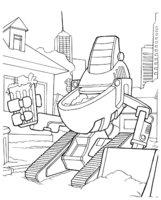 Раскраска Робот собирает мусор