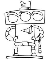 Раскраска Робот-светофор