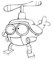 Раскраска Робот-вертолет