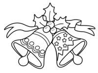 Раскраска Рождественские колокольчики