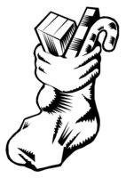 Раскраска Рождественский носок с замысловатыми узорами
