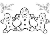 Раскраска Рождественское печенье