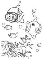 Раскраска Рыба-солнце Кайн