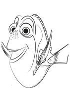 Раскраска Рыбка Дори