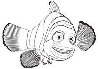 Раскраска Рыбка Марлин