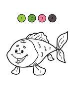 Раскраска Рыбка по цифрам