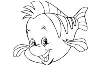 Раскраска Рыбка Русалочки