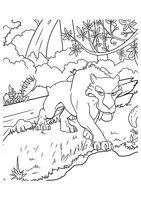 Раскраска Саблезубый тигр Диего
