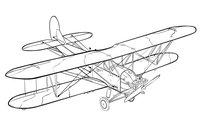 Раскраска Самолет ПО-2