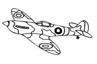 Раскраска Самолет с военной окраской