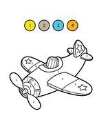 Раскраска Самолетик по цифрам
