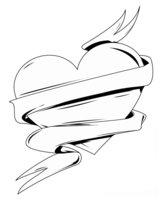 Раскраска Сердечко-валентинка