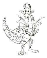 Раскраска Шипованный дракоша