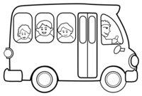 Раскраска Школьный автобус
