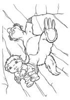 Раскраска Сид с малышом
